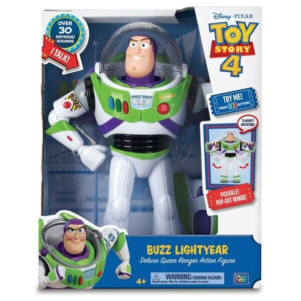 Toy Story 4 Buzz Lightyear Deluxe Space Ranger Talking 30cm Action Figure NEW