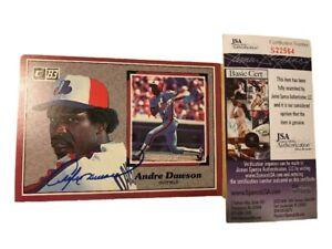 Andre-Dawson-Autograph-Signed-1983-Donruss-Large-Card-HOF-Expos-Cubs-JSA