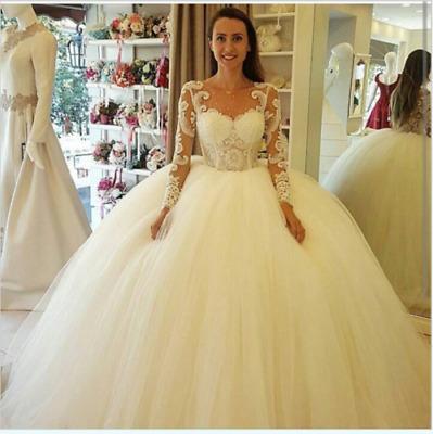 Long Sleeve Princess Bridal Ball Gowns White Ivory Wedding Dresses Plus Size Ebay,Mermaid Corset Mermaid Wedding Dresses Plus Size