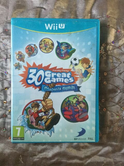 Family Party : 30 Great Games Obstacle Arcade (Wii U) **GREAT CONDITION**