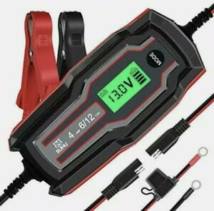 SUHU Car Battery Charger, 6V/12V 4 Amp Battery Charger Automotive Trickle Charge