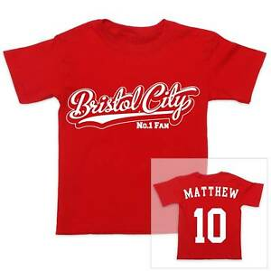 BRISTOL-CITY-Futbol-Personalizado-De-Nino-CAMISETA-CHICA