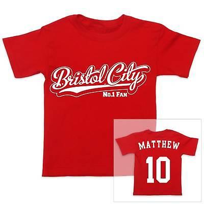 BRISTOL CITY Football Personalised Boys//Girls T-Shirt
