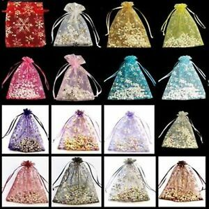 10 / 20 /100 pieces Ice Organza Gift Bags 70x90mm / 7x9cm / 2.7x3.5 inch