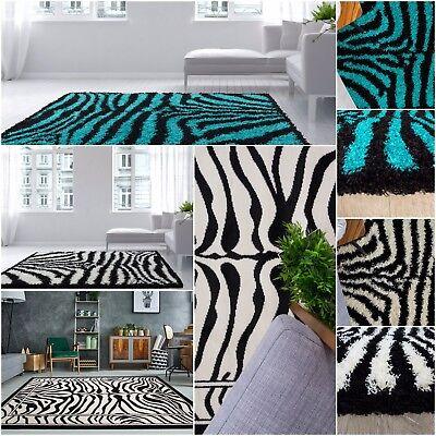 Zebra Print Rugs Bedroom Soft Fluffy