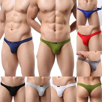 Solid Color Modal Men's T-back Bikini Nightwear Sexy Thongs Underwear M-XL NK36