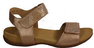 RIEKER Schuhe Sandaletten Freizeit Sandalen rosa Strass