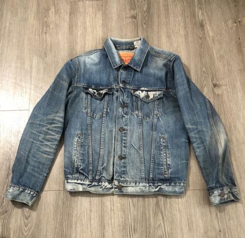 90s Vintage Mens LEVIS Denim Jacket Trucker Jeans… - image 1