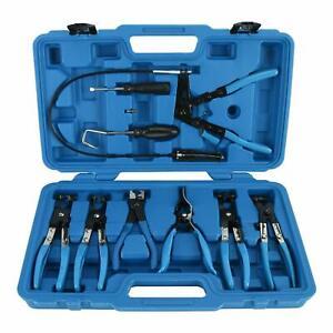 9pcs-Wire-Long-Reach-Flexible-Hose-Clamp-Pliers-Set-Fuel-Oil-Water-Hose-Tools