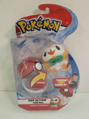Pokemon Rowlet Pop Action Poke Ball Toy
