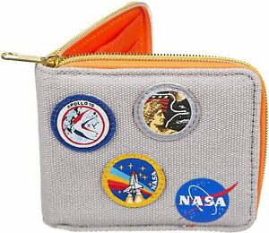 OFFICIAL NASA SPACE CORPS COTTON ZIPPED MENS WALLET NEW IN GIFT BOX *