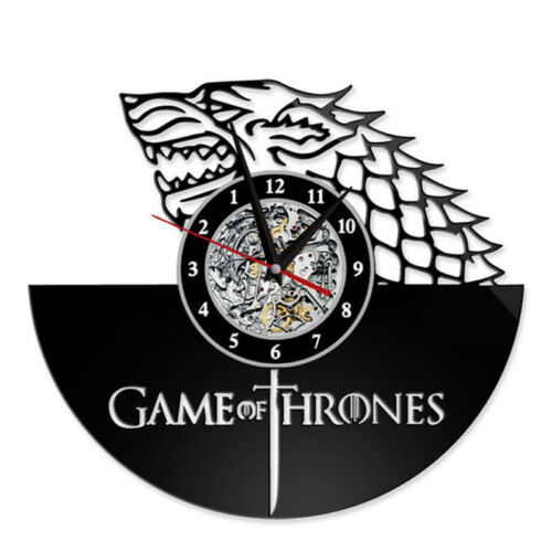 Game of Thrones Fire and Blood LED Vinyl Wall Clock Color Change Decor Backlight
