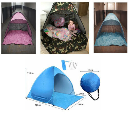 Outdoor Pink Blue Green Pop Up Toys Play Tent Dome Easy Quick Light indoor Store