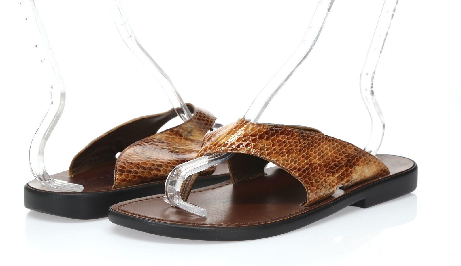 Damenschuhe Munro Braun patent Leder flip flops Sandale sz. 11 W