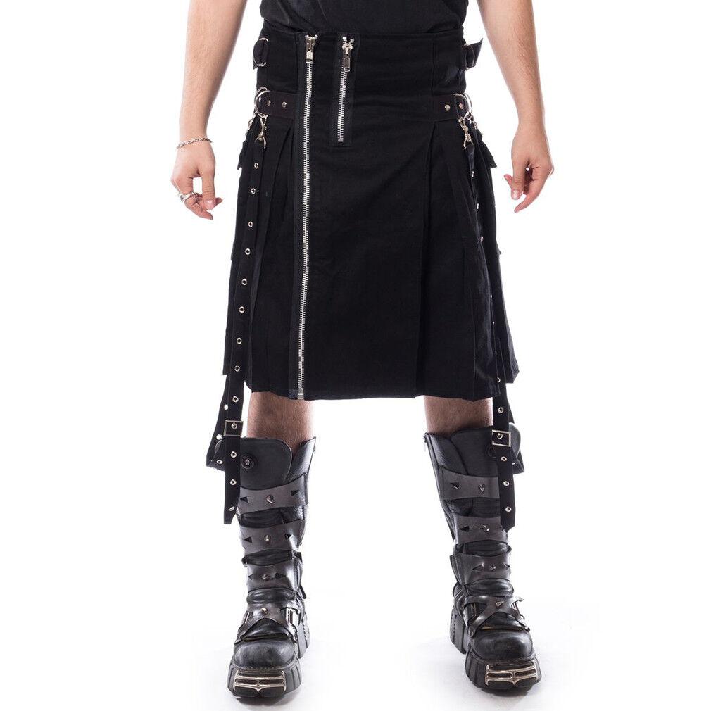 Chemical schwarz Goth Gothic Punk Festival Rave Schottenrock Carl Kilt Schwarz