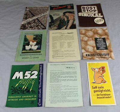 Kompetent 9 Reklame Prospekte Bzw. Zettel - Thema Landwirtschaft - Aid + Raiffeisen /s186 SchöNe Lustre