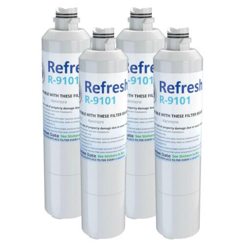 Refresh Water Filter Fits Samsung RF28HFEDBSG//AA Refrigerators 4 Pack
