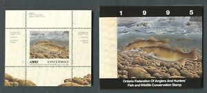 CANADA-REVENUE-WILDLIFE-CONSERVATION-STAMP-OW3-MINT-MINI-SHEET