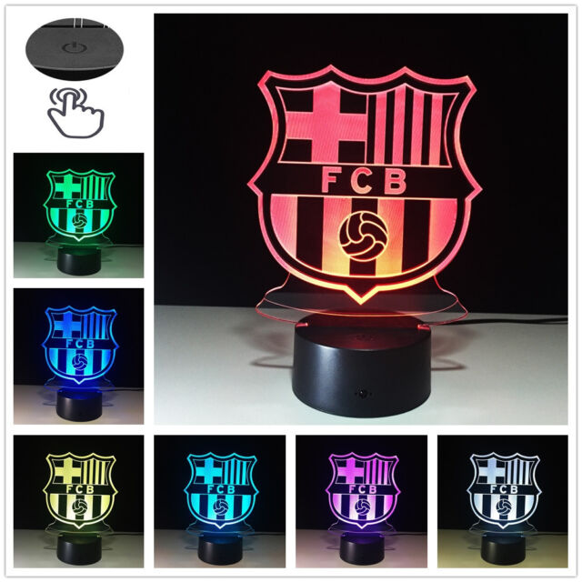 FC Barcelona Club Logo D Illusion Night Light Color LED Desk - Barcelona fc table