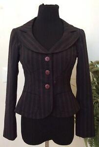 Nanette Lepore nere Giacca lana Euc a Carriera in Women's misto 4 Blazer righe taglia rrwqdza