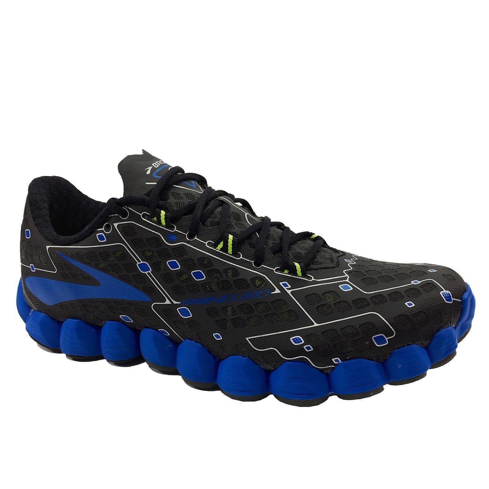 nyA Brooks NEURO herr springaning skor Sz 10, 11.5 11.5 11.5 Metallic Charkole Electric blå  leverans kvalitet produkt