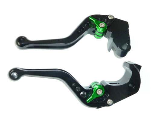KAWASAKI ZX10R 2006-2015 SHORT BLACK BRAKE /& CLUTCH LEVERS  RACE TRACK R12B6