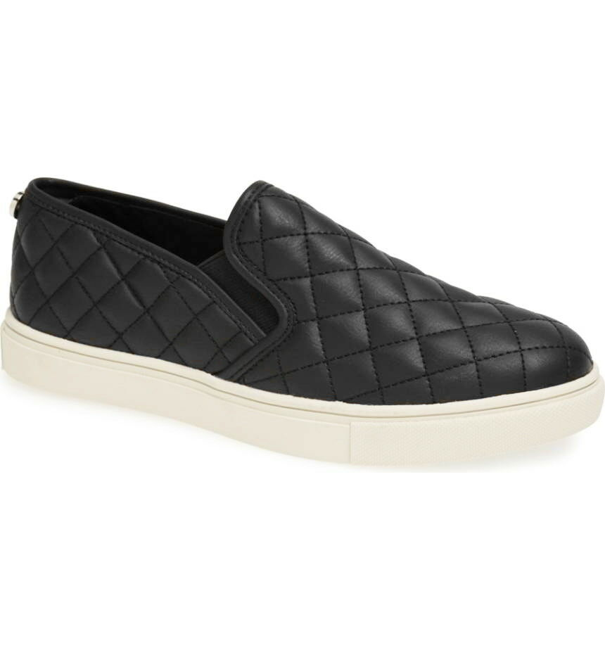 Steve Madden Ecentrcq Acolchado Zapatillas Zapatos Sin Cordones Informal Informal Informal Mujeres Negro Talla 6.5  barato
