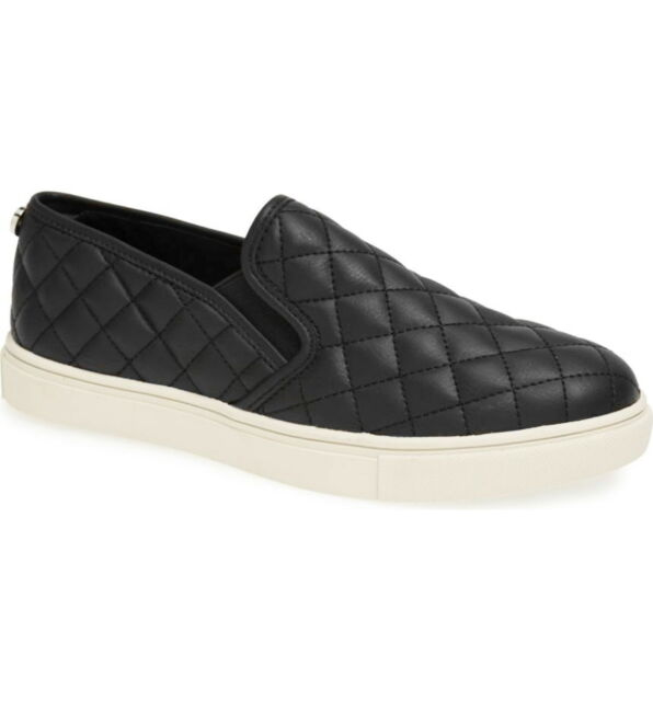 f496e3cb81a Steve Madden Shoes Ecentrcq Quilted Sneakers Slip-On Casual Women Black Size  6.5