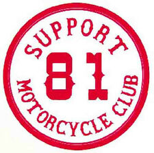 """Support 81 Motorcycle Club""  Biker  1960's Vintage-Looking Travel Sticker/Decal"