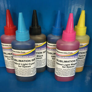 6adb8bbbd4abb Details about 600ML SUBLIMATION INK EPSON P50 R265 R285 R360 RX560 RX685  PX650W PX660 NON OEM