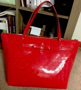 Image Is Loading Kate Spade Chili Red Camelia Street Sophie Nwt