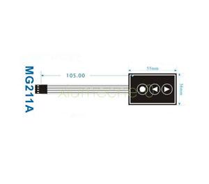 2PCS 36*55mm 1x3 Matrix Array 3Key 1*3 Keys Membrane Switch Keypad Keyboard