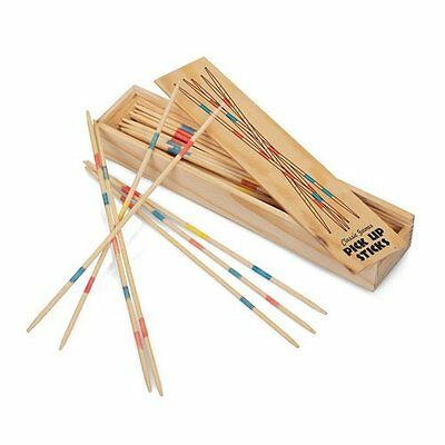 Wooden PICK Up STICKS Mikado Set with Instructions Retro Traditional Game 0348