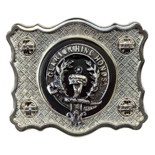 Art Pewter Ross Clan Crest Belt Buckle Buckle-C96 Scottish