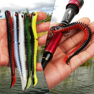 5-Pieces-Silicone-Soft-Worm-Bait-Fish-Bait-Fishing-Lures-Bionic-Lure-Super