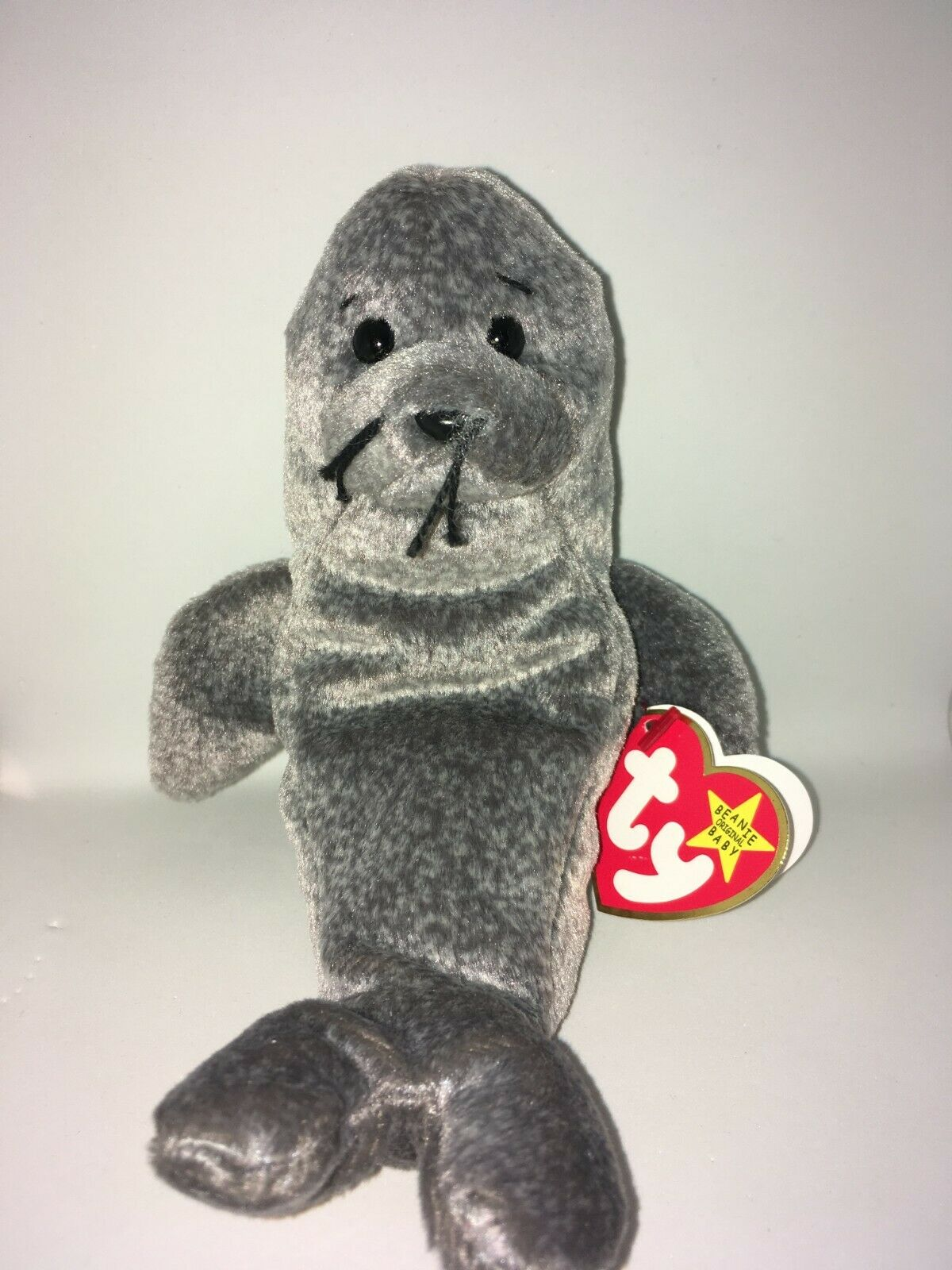 "Retired Ty Beanie Baby SLIPPERY the Seal Tag Errors ""Gasport"" Never Used Mint"