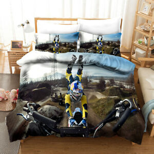 3D-Extreme-Motorcycle-Quilt-Cover-Set-Pillowcases-Duvet-Cover-3pcs-Bedding-144