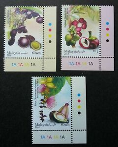 SJ-Malaysia-Medicinal-Plants-IV-2018-Fruits-Food-Flower-stamp-plate-MNH