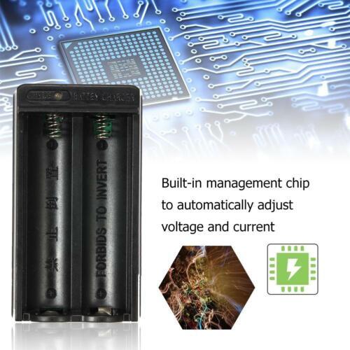 US Plug 2 Slots Voyage chargeur adaptateur Pour 18650 Li-ion rechargeable GA