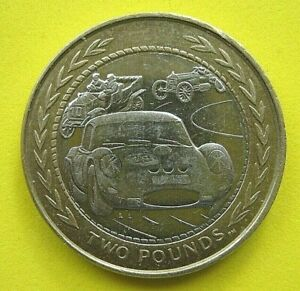 ISLE-OF-MAN-2-COIN-034-THREE-RACE-CARS-034-1998-CIRCULATED