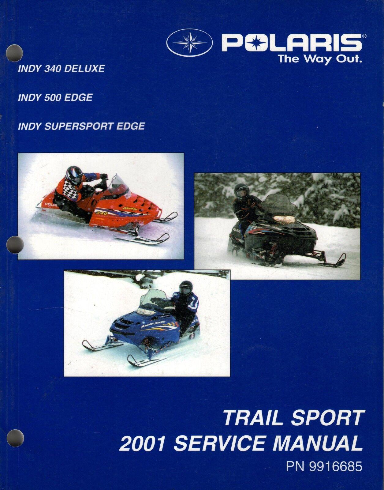 2001 POLARIS SNOWMOBILE TRAIL SPORT SERVICE MANUAL P N 9916685 (381)