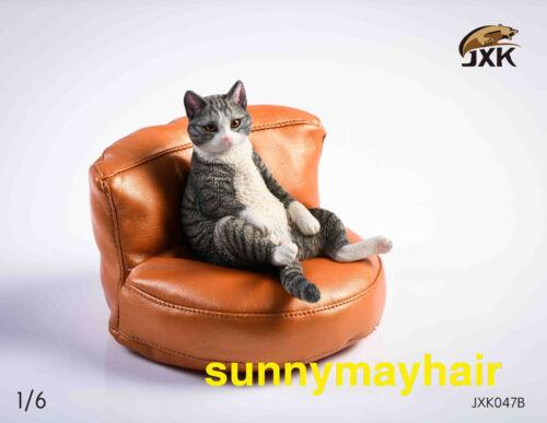 Details about  /JXK 1//6 JXK047 Lazy Cat Sit Down Cat Pet Animal Model W// Sofa Figure Statue Toys