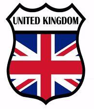 2 x United Kingdom Shield Flag Decal Car Motorbike Laptop Window Sticker