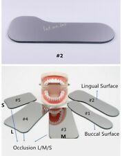 Dental Orthodontic Mouth Mirror 2 Intra Oral Photo Photographic Glass Reflector