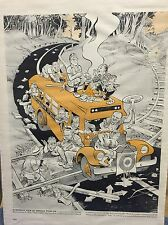 Outstanding 1950's Eisenhower Political Cartoon! Please Check The Pictures!