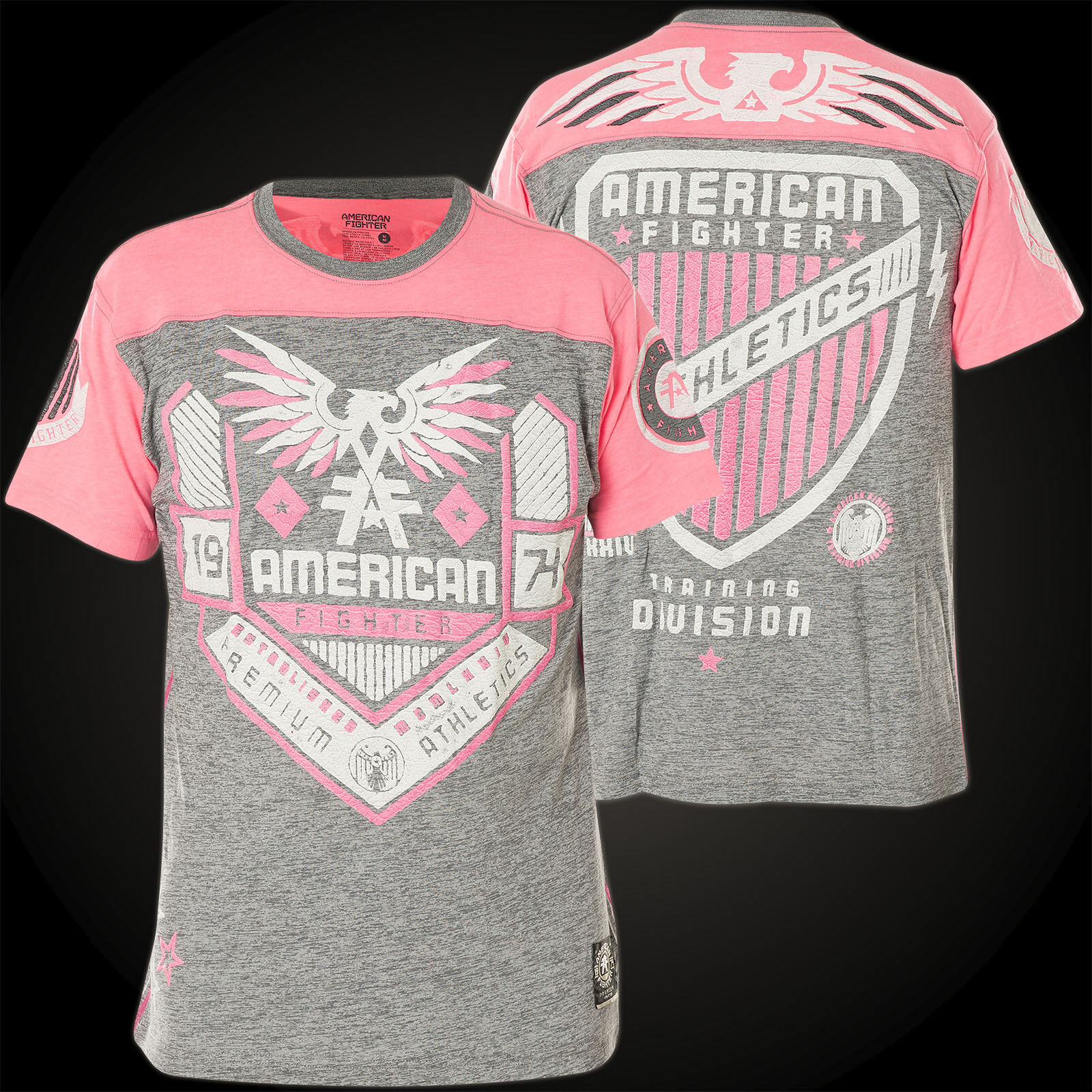 AMERICAN FIGHTER Affliction T-Shirt Augusta WeatheROT Grau T-Shirts