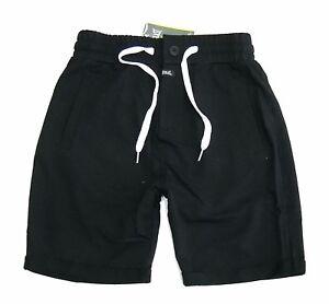 Pantalone-corto-sport-EVERLAST-uomo-p-e-short-nero-con-risvolta-senza-felpa