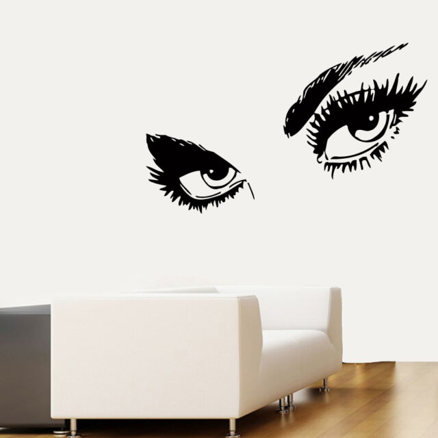 Wall Decals Vinyl Sticker Decal Make Up Girl Eyes  Order for raja4855 kk166
