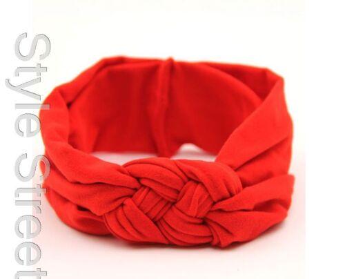 38-48 cm Stirnband Baumwolle Haarband kopfband Turban KNOTEN Band Gr
