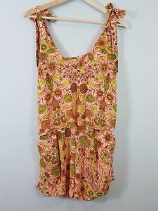 H-amp-M-Womens-Floral-Print-Playsuit-Size-AU-10-or-US-6